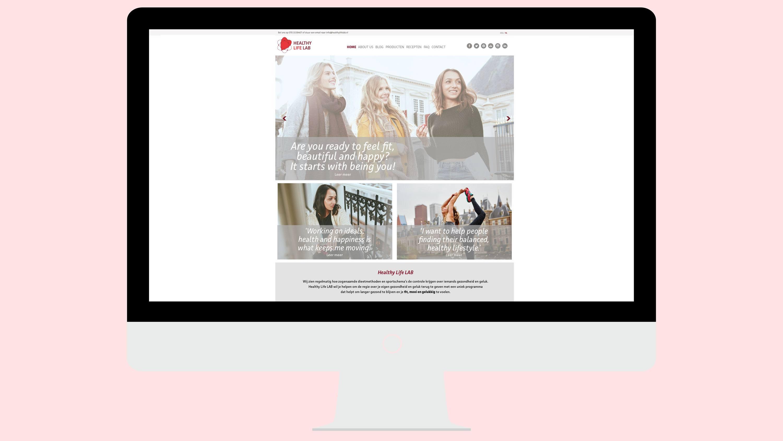 Healthy Life Lab, website ontwerp, Mixus studio