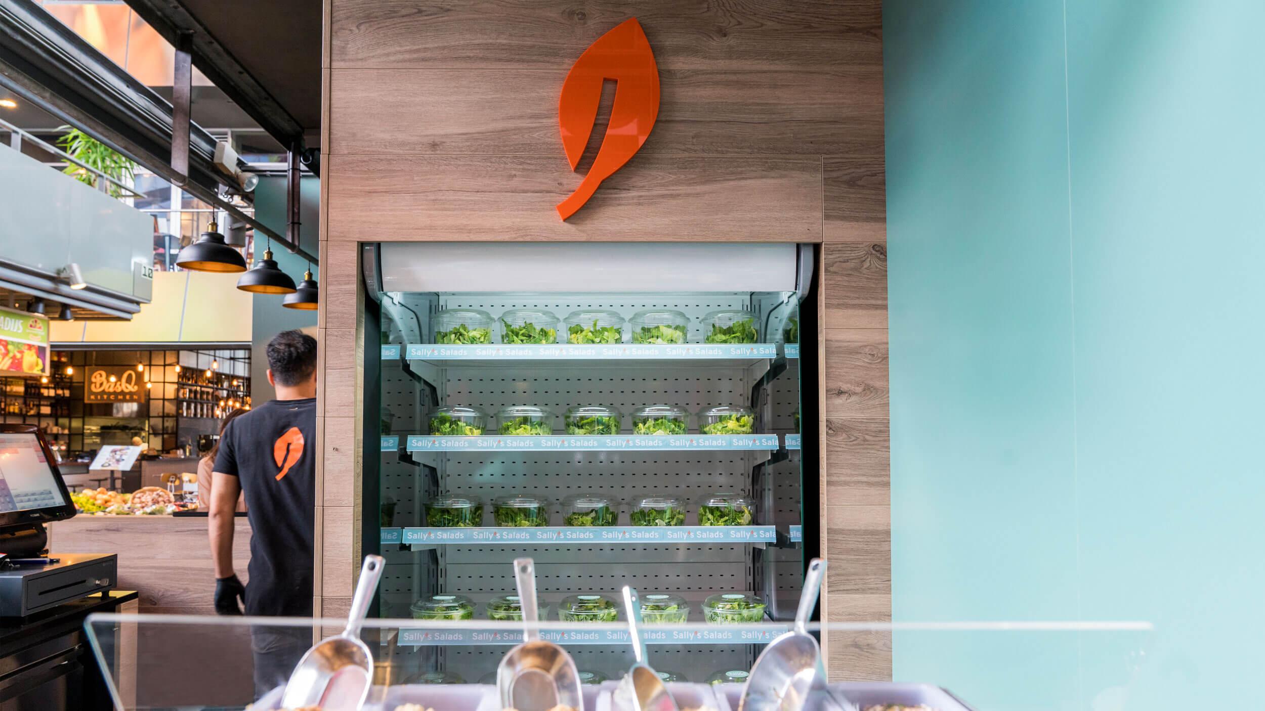 Sally's Salads, saladebar, Mixus studio