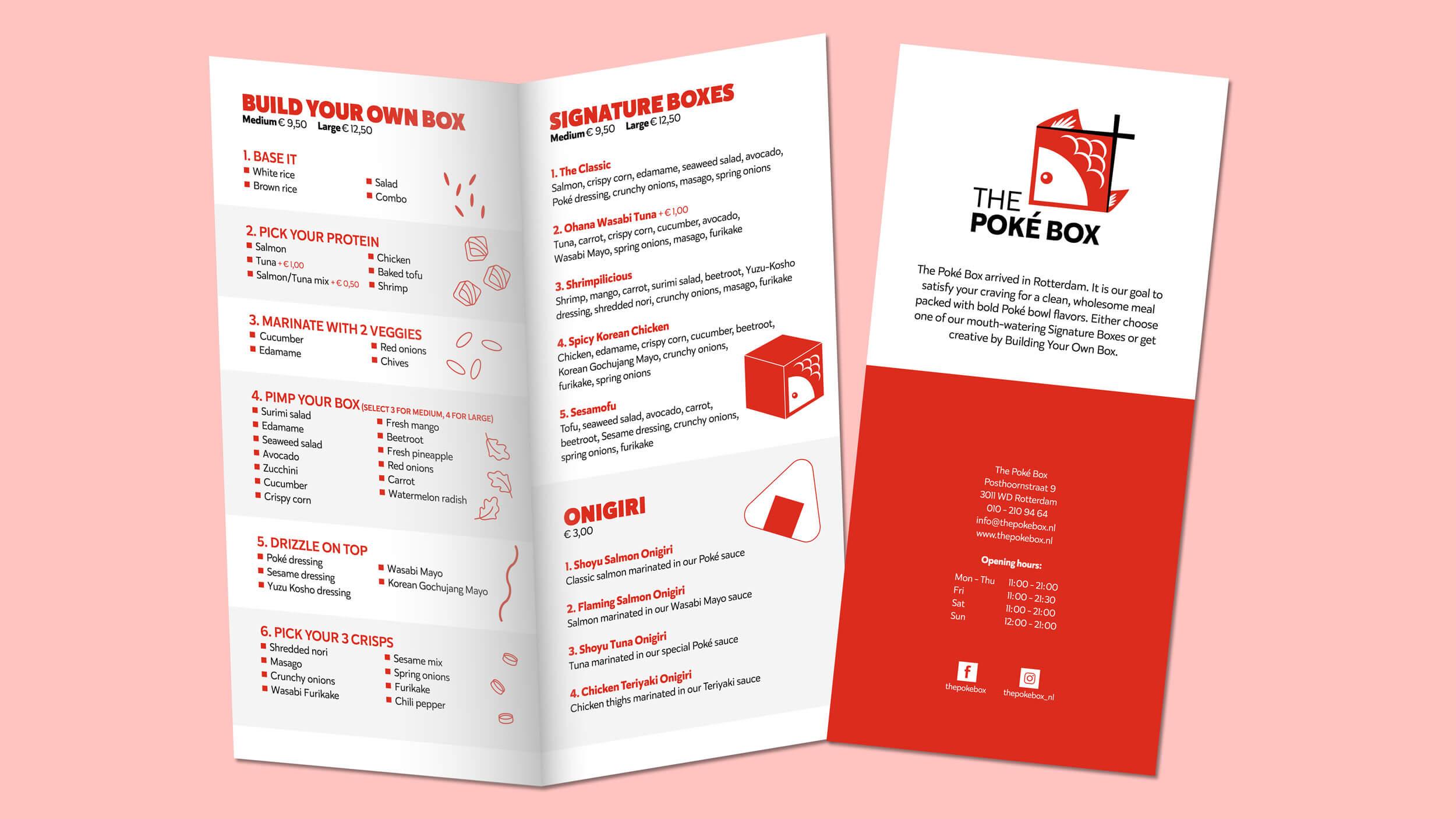 The Poké Box, menukaart, Mixus studio