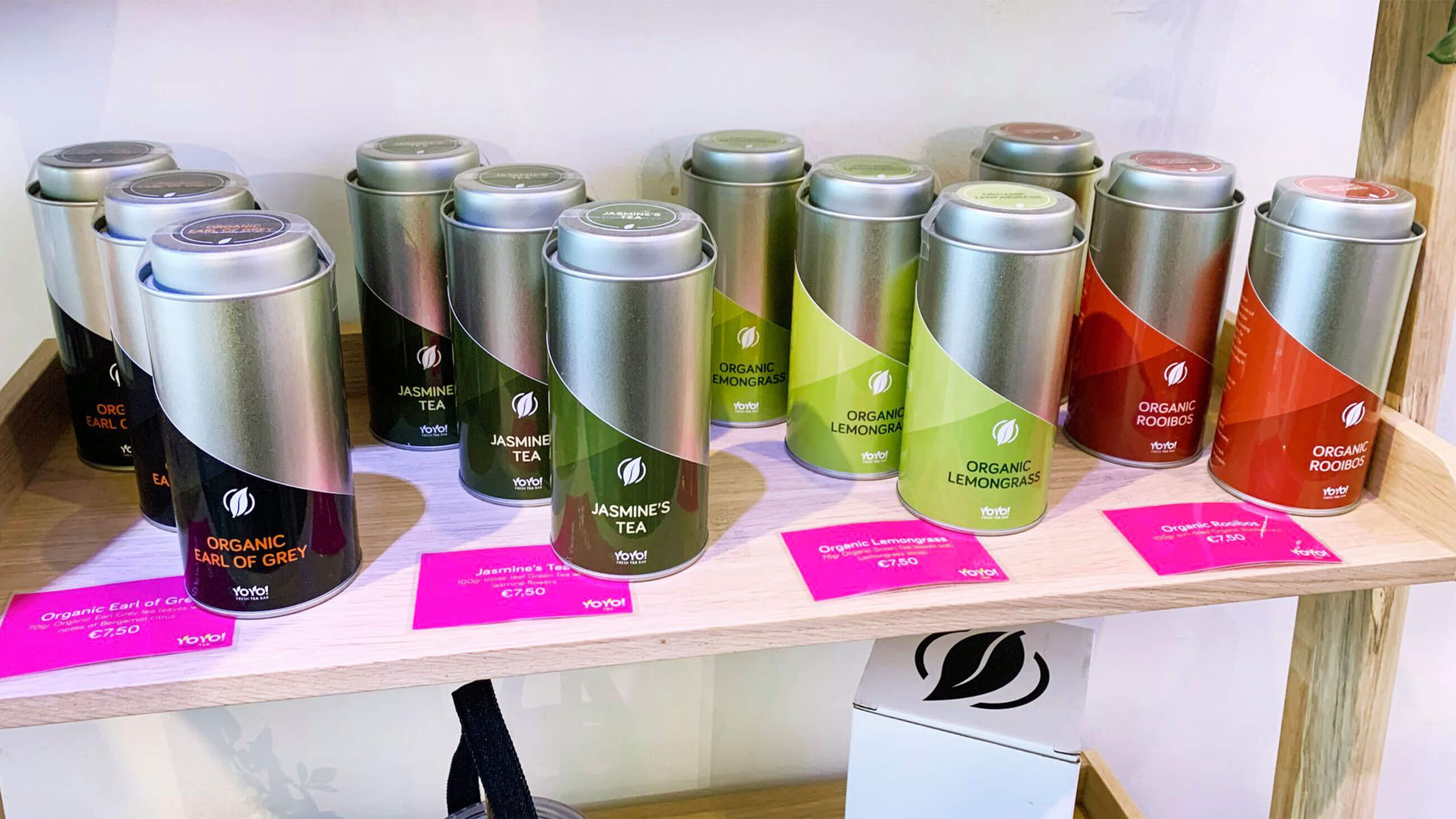 YoYo! Fresh Tea Bar, visuele communicatie, Mixus studio