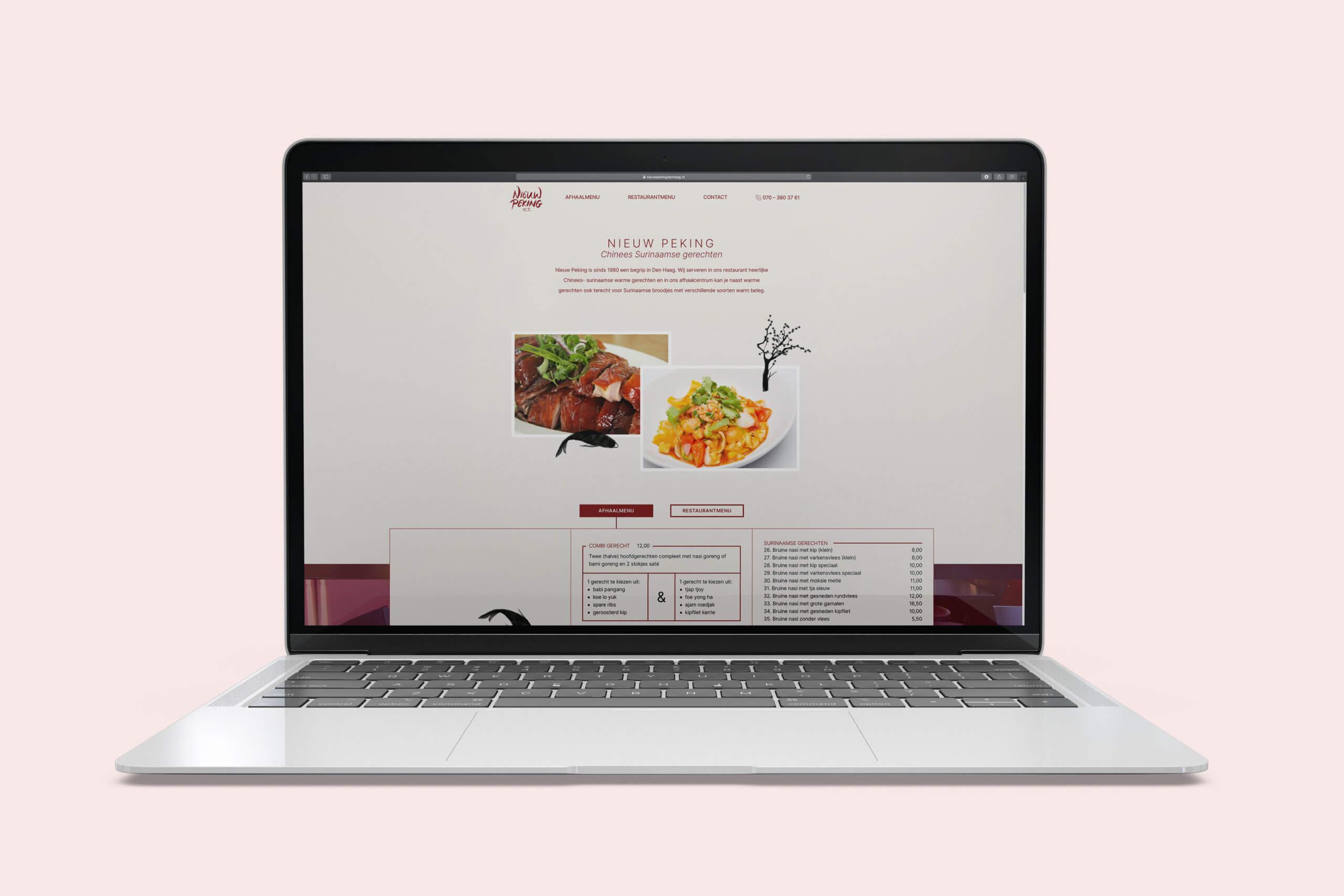 Nieuw Peking, website, Mixus studio
