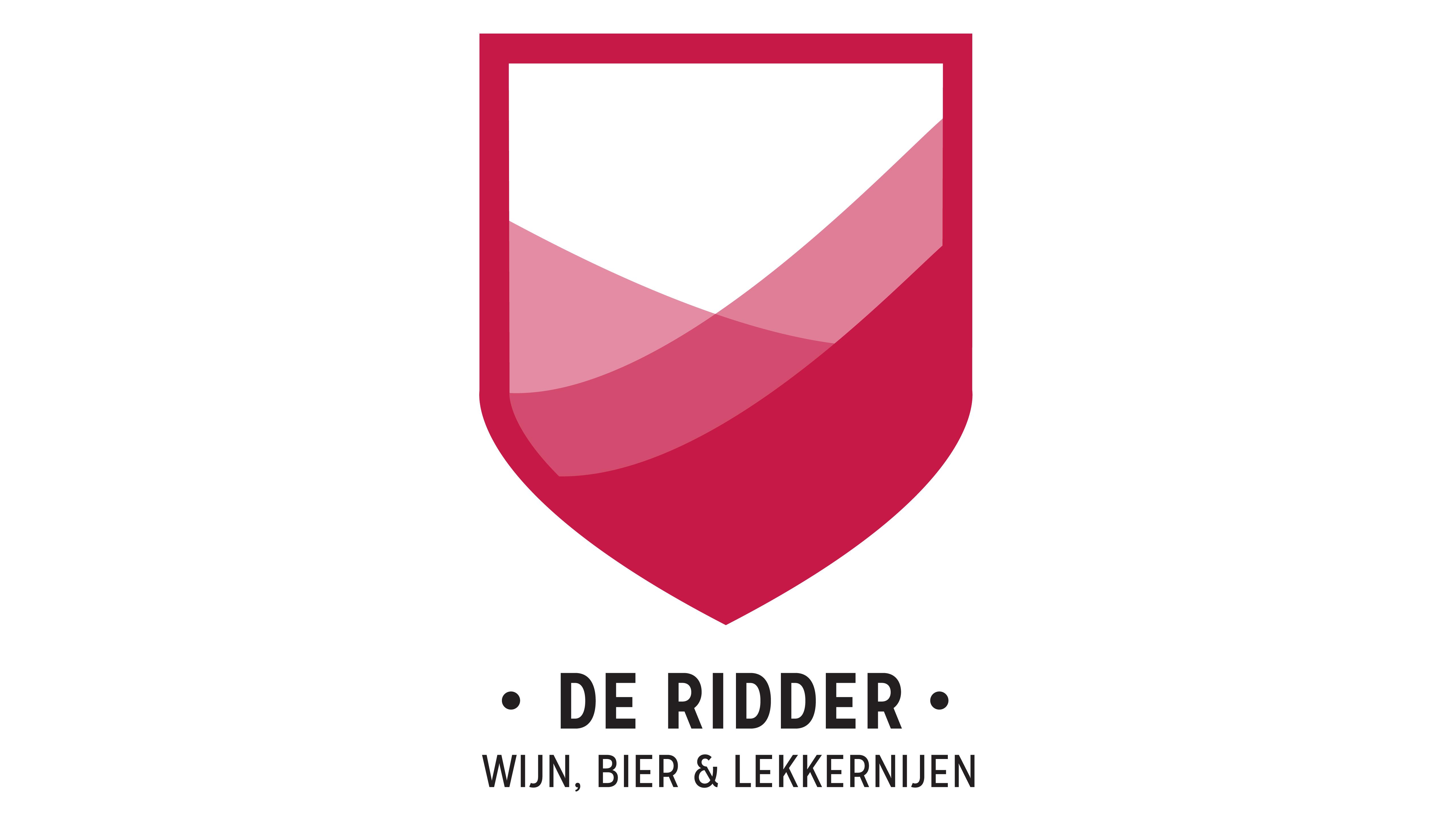 De Ridder, wijn, bier en lekkernijen, logo, Mixus studio