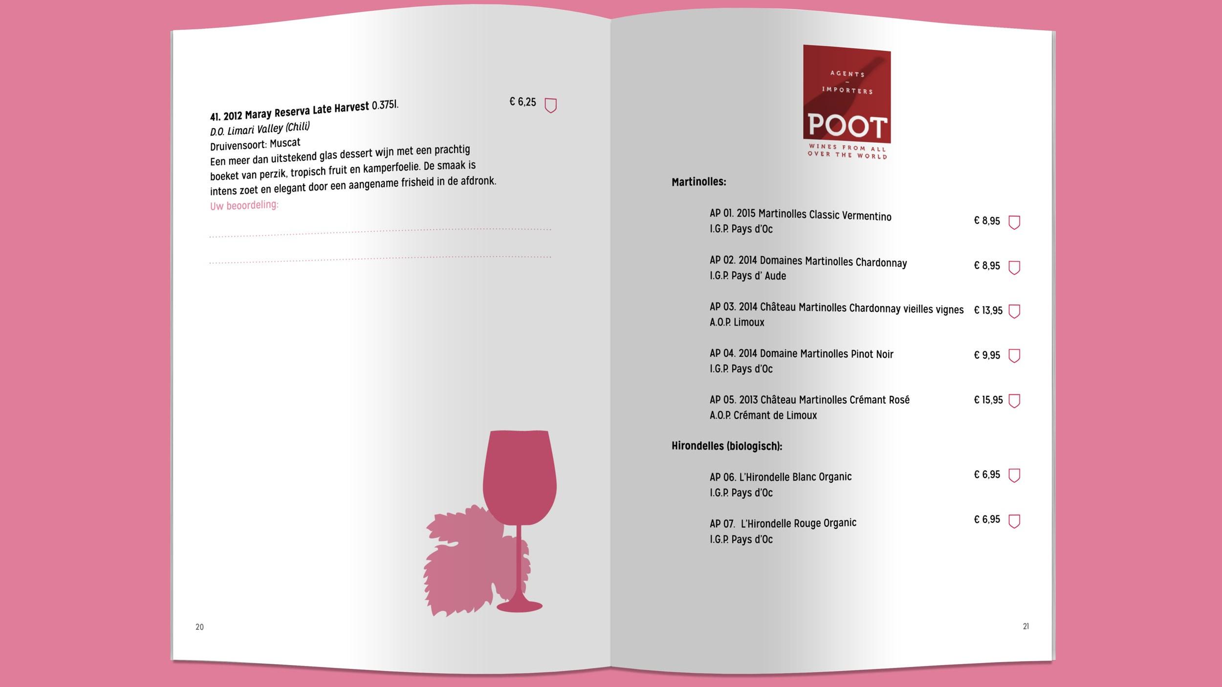 De Ridder, wijn, bier en lekkernijen, boekje, Mixus studio