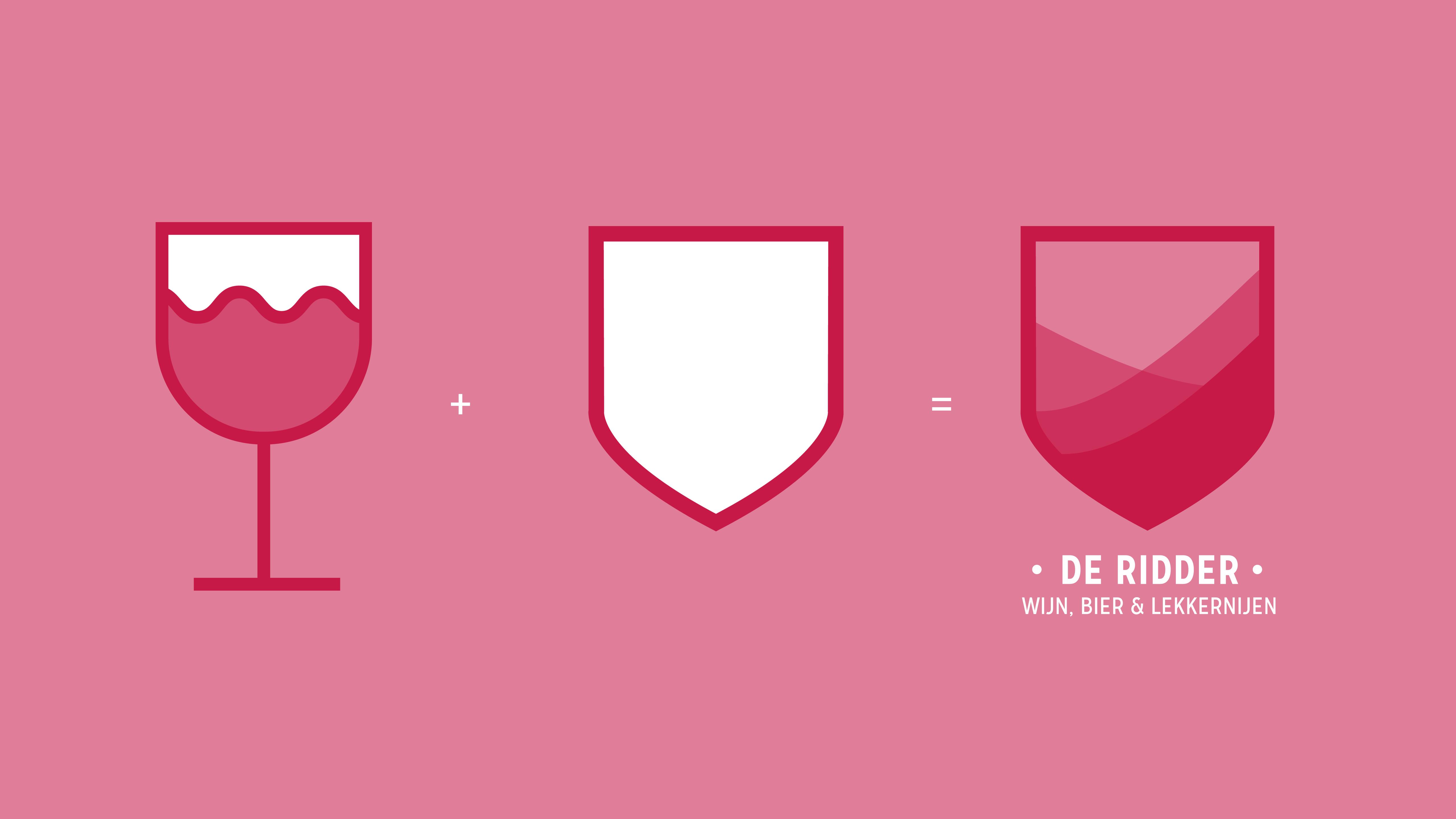De Ridder, wijn, bier en lekkernijen, logo ontwerp, Mixus studio