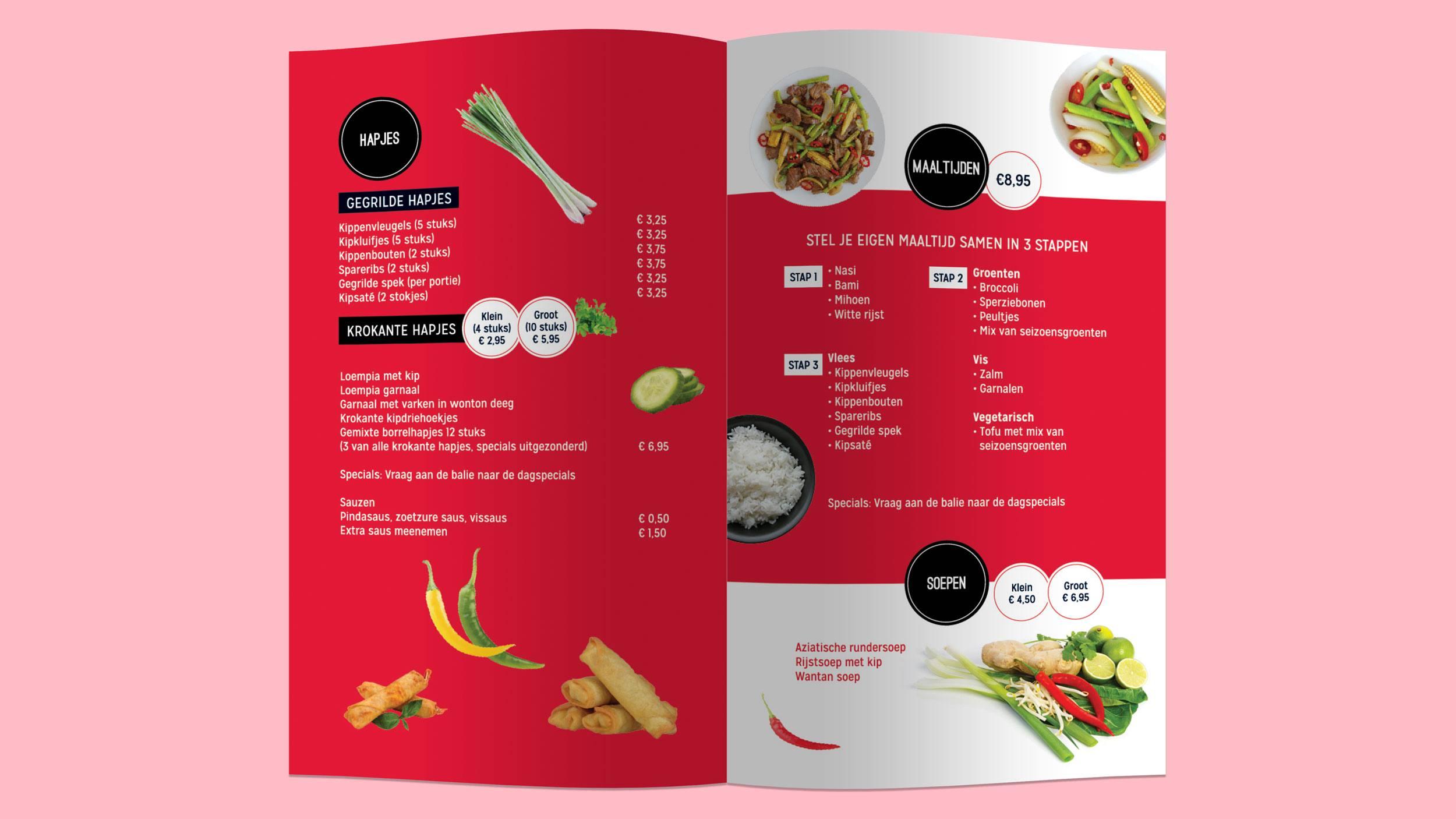 Deli Tasty, menukaart, Mixus studio