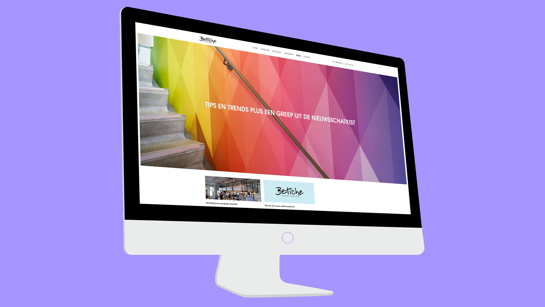 Betiche, webdesign desktop, Mixus Studio