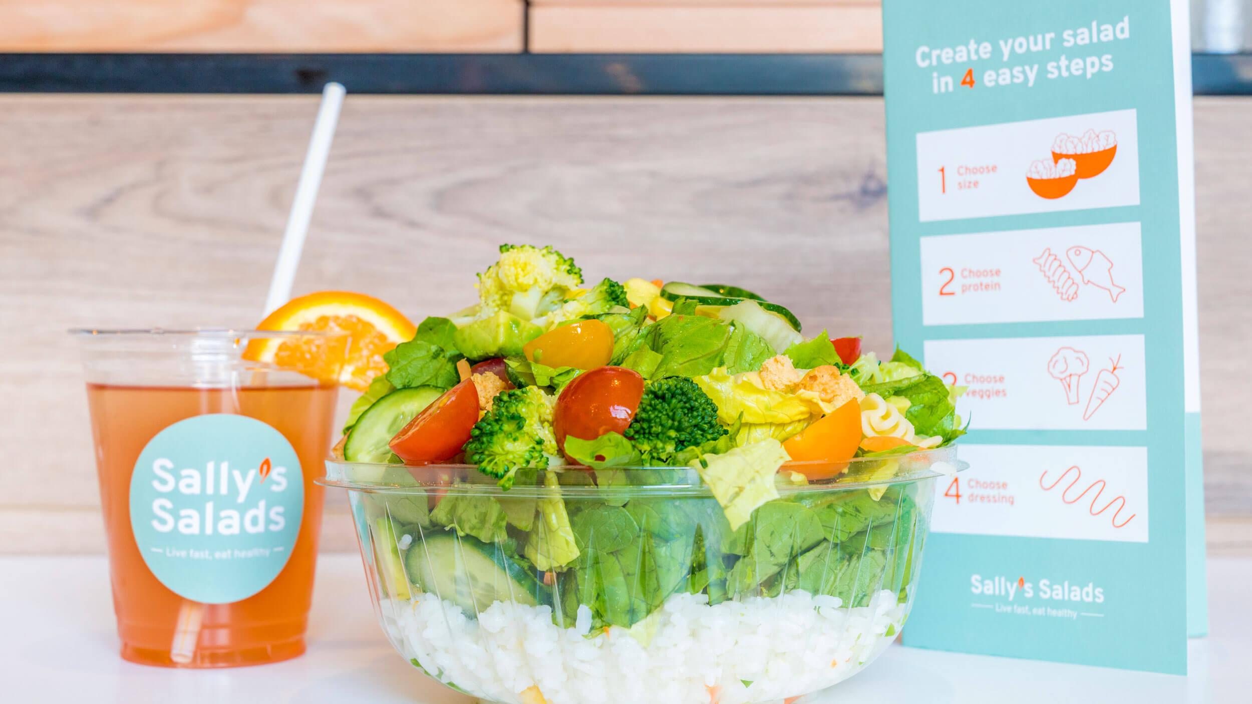 Sally's Salads, maaltijd, Mixus studio