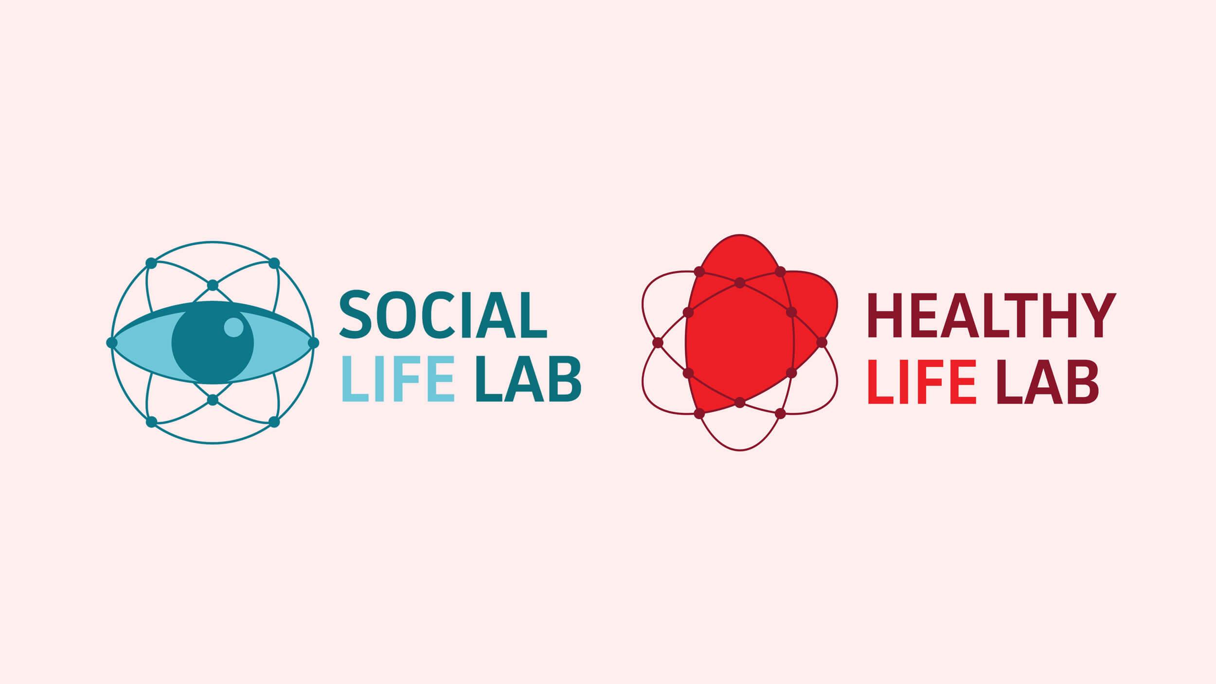 Social Life LAB, twee logos, Mixus studio