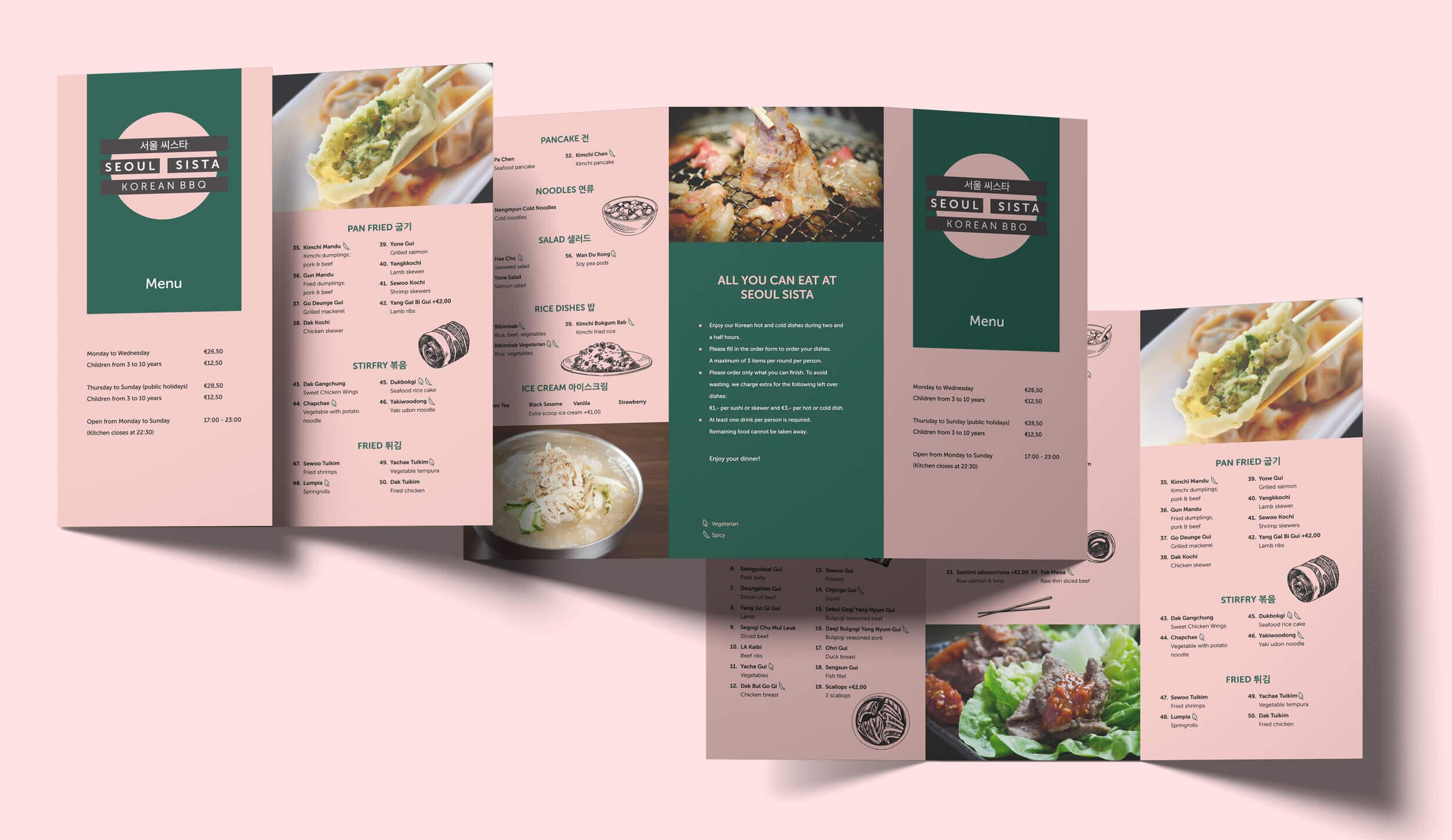 Mixus studio, Seoul Sista menu