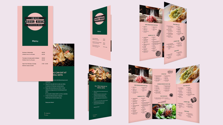 Seoul Sista, interieur, menukaart