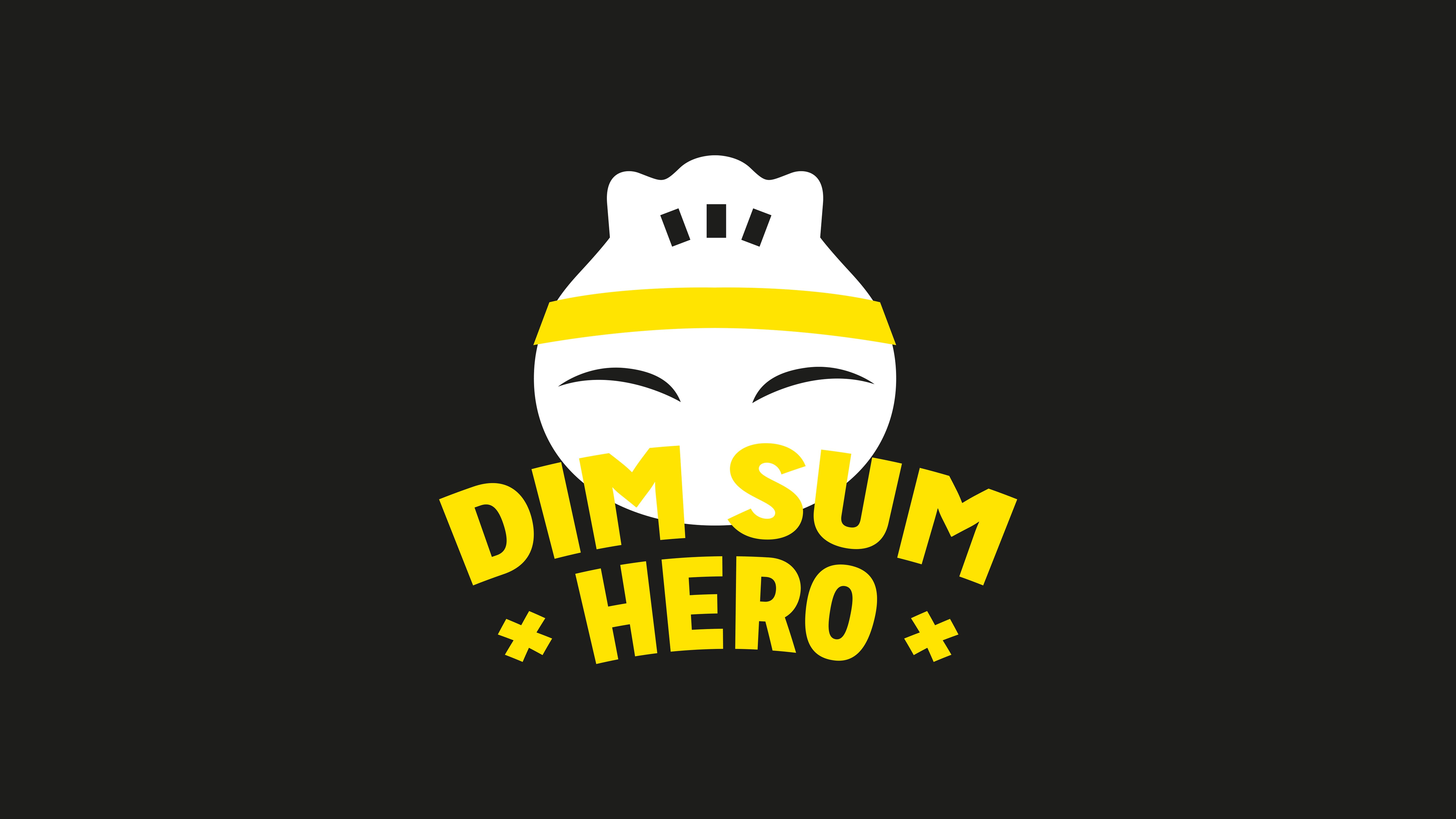 Dim Sum Hero, Mixus studio, logo zwart