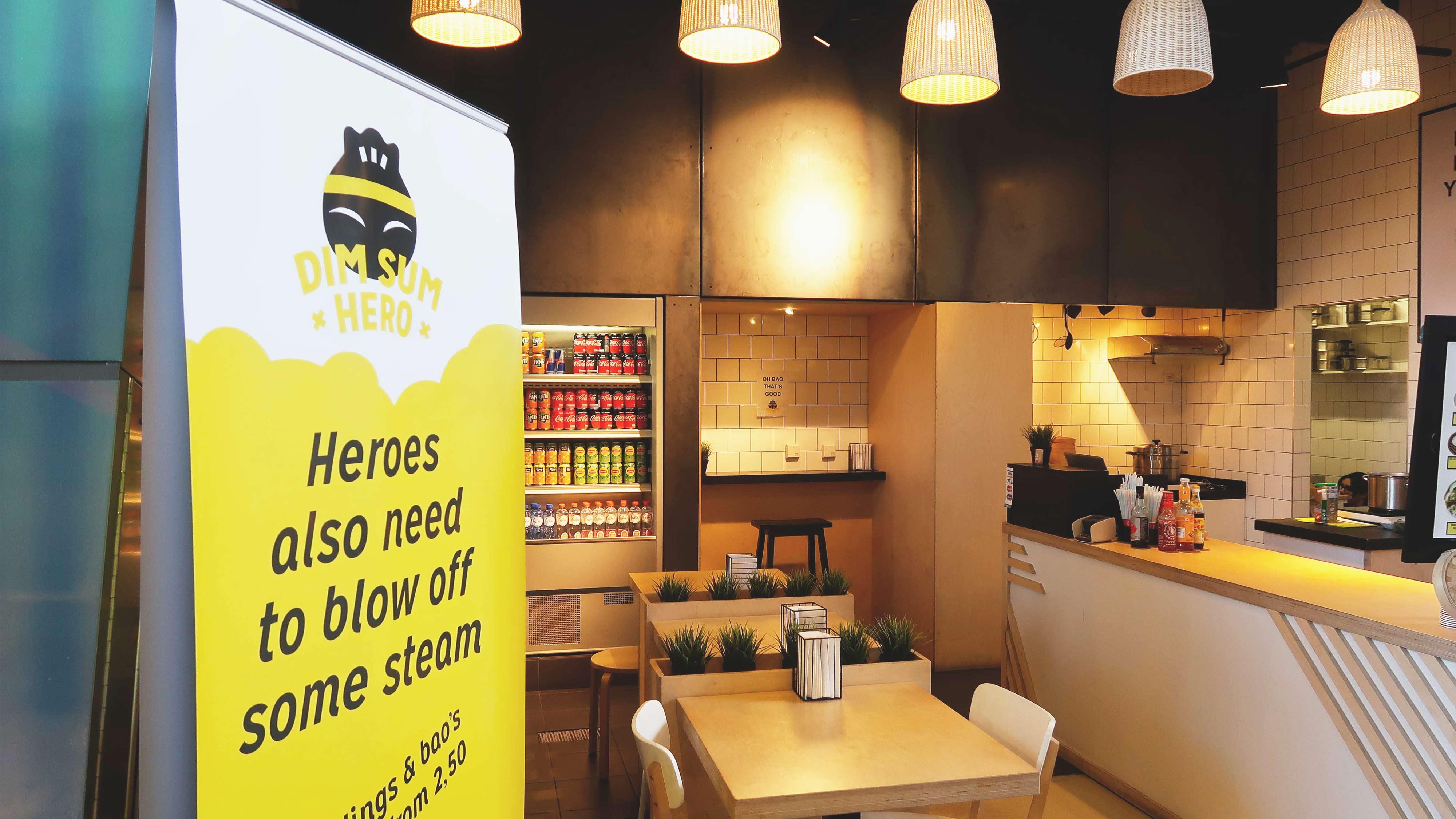 Dim Sum Hero, Mixus studio, interieur en banner