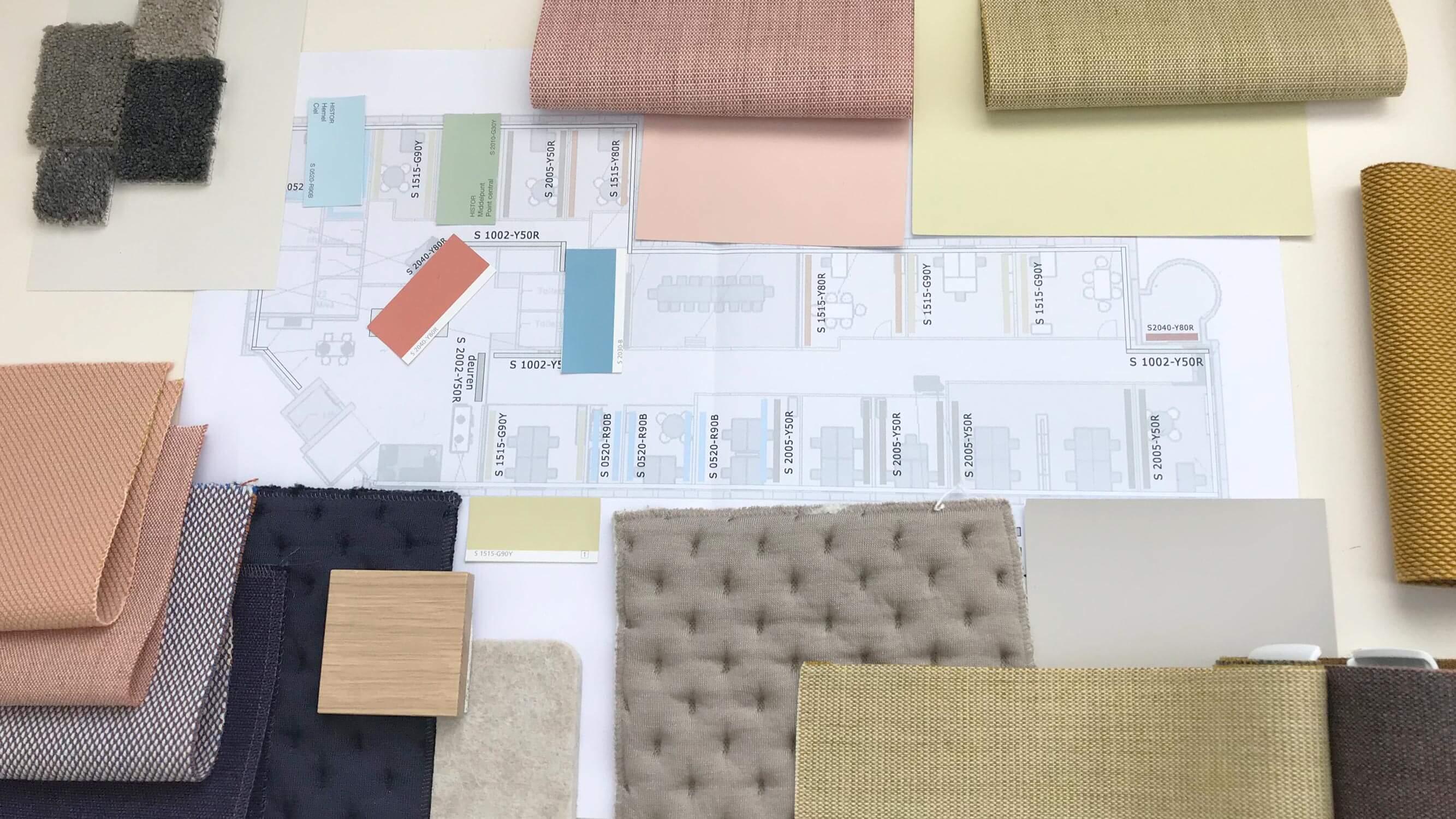 Enver, Mixus studio, kleurplan