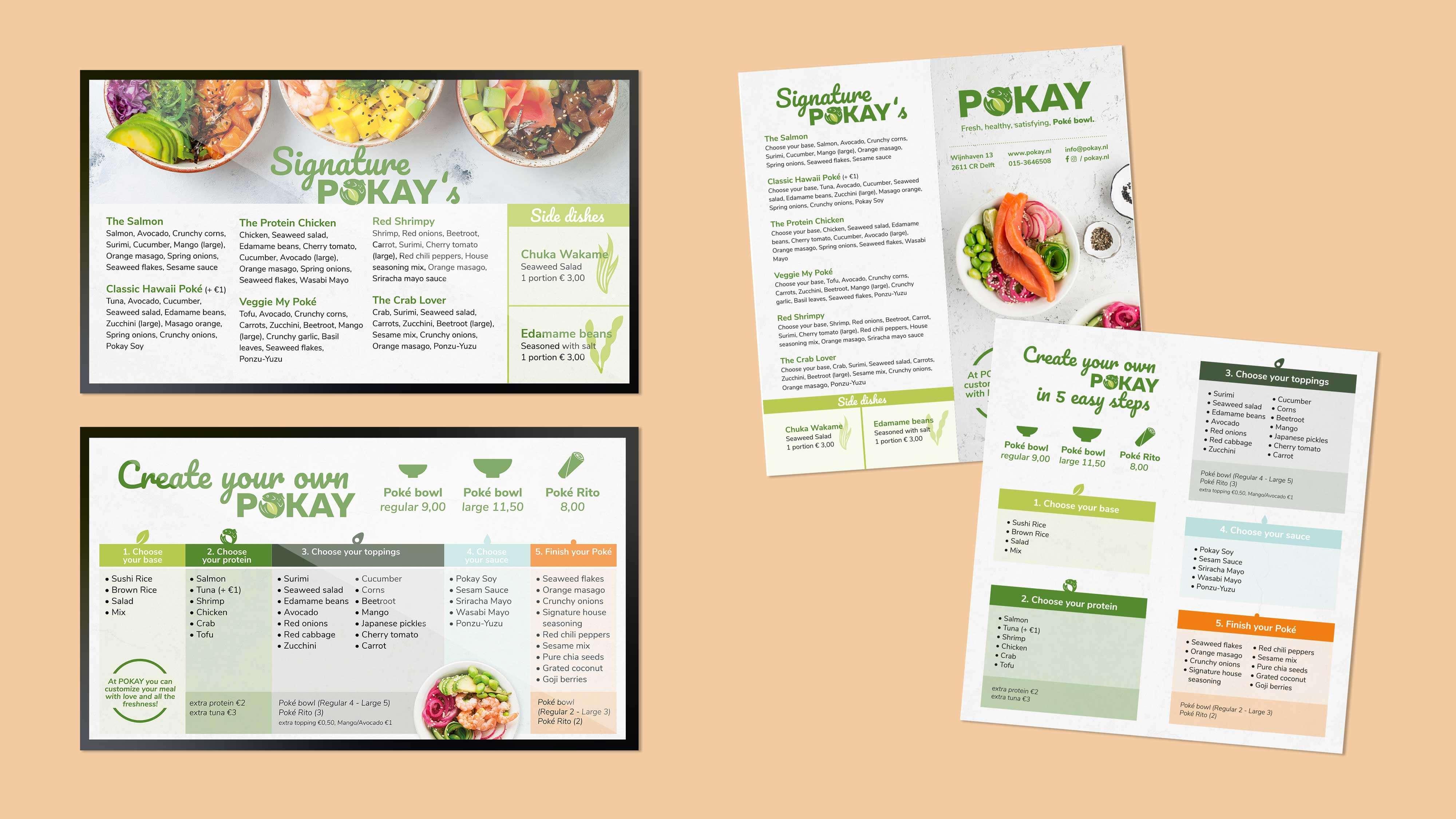 POKAY, menu, Mixus studio