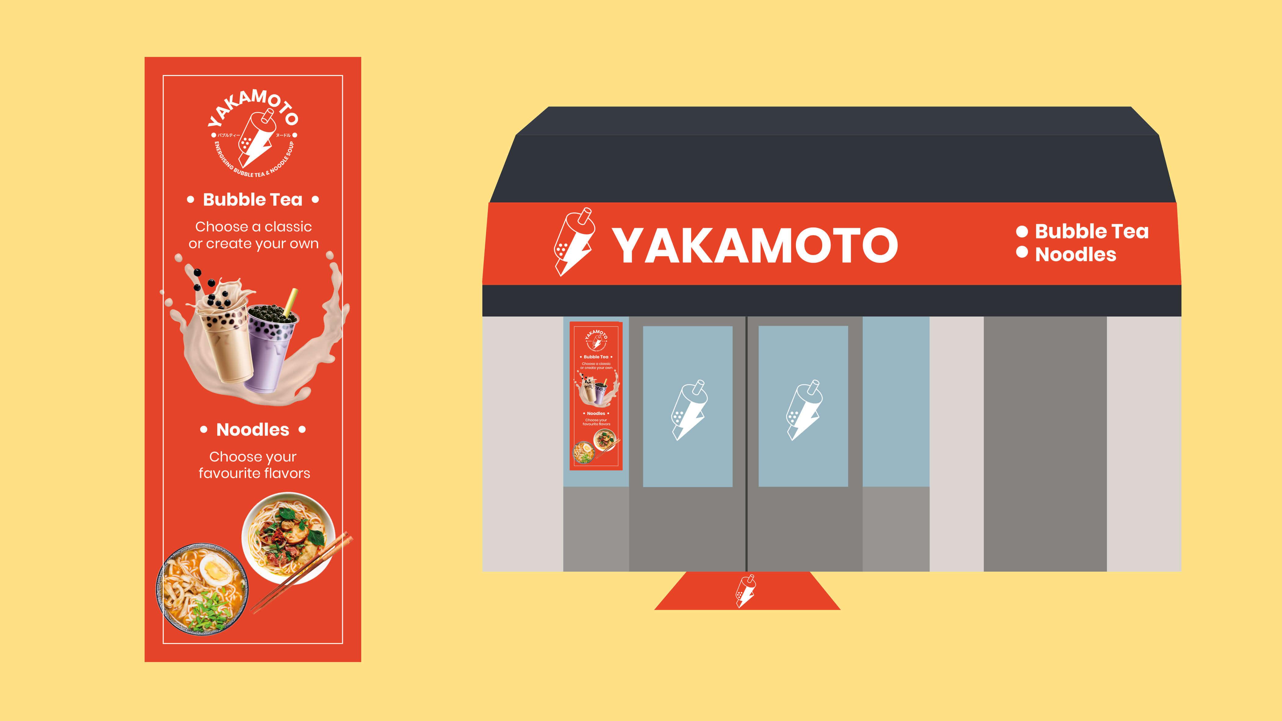 Yakamoto, Mixus studio, Gevel