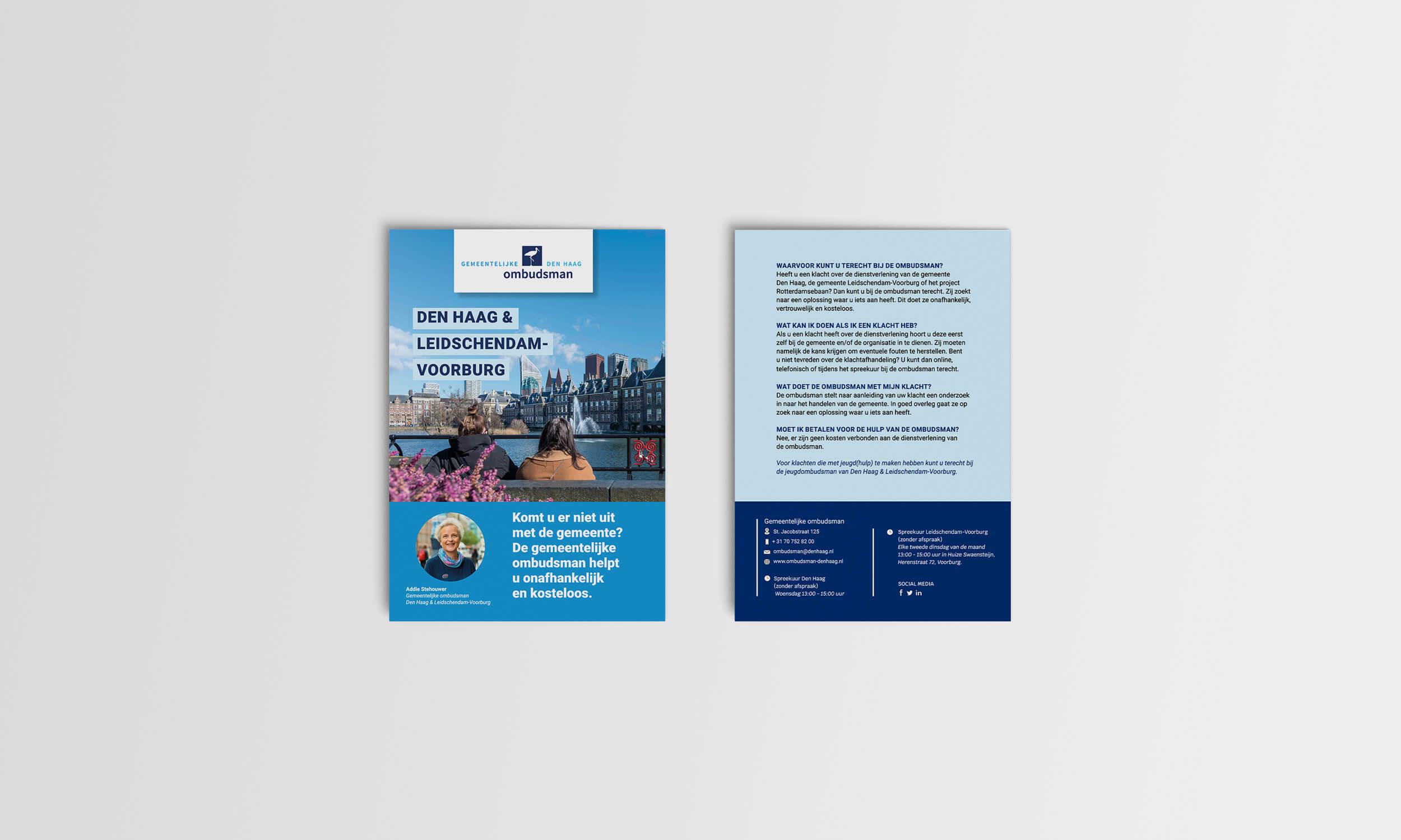 Gemeentelijke Ombudsman Den Haag Flyer