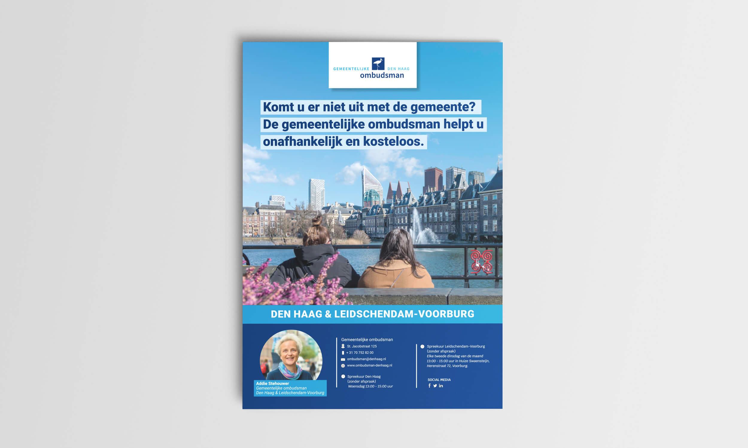 Gemeentelijke Ombudsman Den Haag Poster